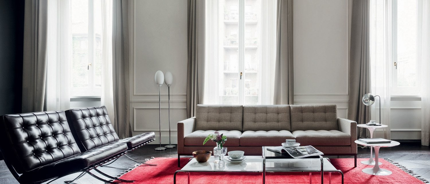 knoll florence knoll relax sofa barcelona relax chair laccio table 2048x