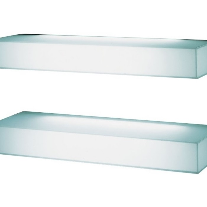 light light glas shelves